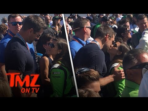 Danica Patrick Gets A Good Luck Smooch From Aaron Rodgers! | TMZ TV