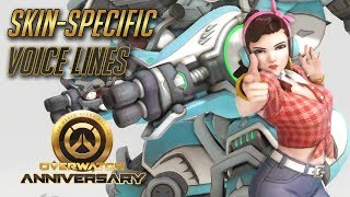 Overwatch - All Skin-specific voice lines (Anniversary Update) thumbnail