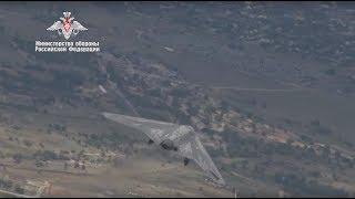 Полёт беспилотника «Охотник» в паре с истребителем