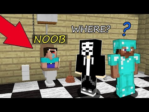 Minecraft Battle: NOOB vs PRO vs HACKER: SECRET PLACE IN THE HIDE AND SEEK in Minecraft MAP thumbnail