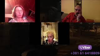 Aleksandra Sladjana Milosevic - Live stream na temu Ko nam teže pada Pandemija ili Policijski čas?