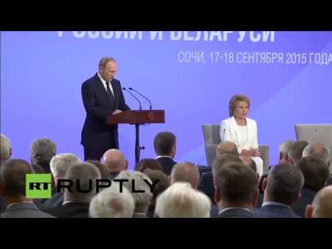LIVE: Putin participates in second Forum of Regions of Russia and Belarus