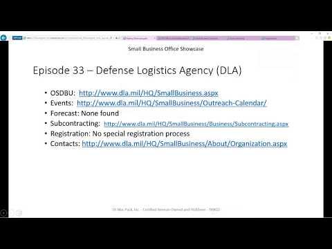 Defense Logistics Agency (DLA) | Small Business Office Showcase | Episode 33