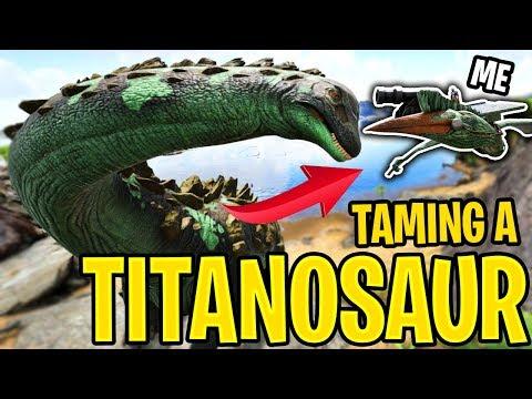 Ark: Ragnarok! - TAMING A TITANOSAUR!! (PART 1) [#25] |Ragnarok Gameplay|