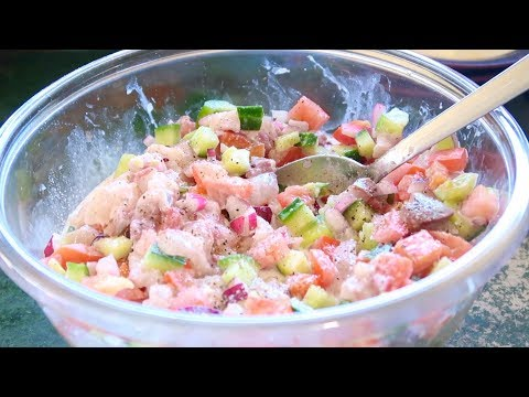 Making Raw Fish With Lime Juice & Coconut Cream