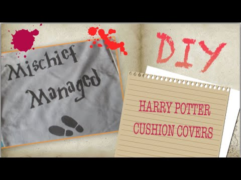 Harry potter diy ideas i home decor cushion covers youtube for Harry potter home decorations