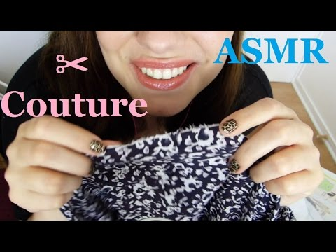 ASMR ✂ Le petit atelier de couture ✂ FR - Whispering, Crinkling, Fabric Sounds, Tapping, Scissors