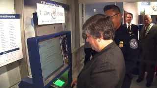 CBP Global Entry Program - DHS Secretary Uses Kiosk