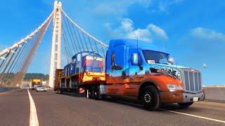 Transportando um TREM com G27 – American Truck Simulator!