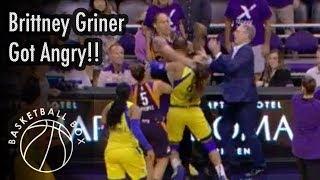 [WNBA] Brittney Griner Got Angry, Dallas Wings vs Phoenix Mercury, August 10, 2019