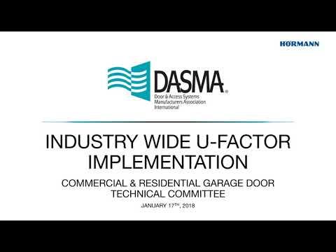 DASMA '18   CRGD   Industry Wide U Factor Implementation