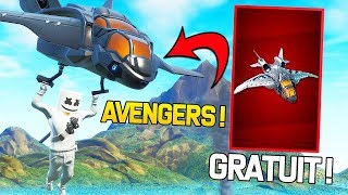 PLEASE FREE THE EXCLUSIVE MARVEL PLANOR ''QUINJET OF AVENGERS'' ON FORTNITE!