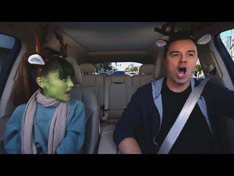 Thumbnail: Apple Music — Carpool Karaoke — Ariana Grande and Seth MacFarlane