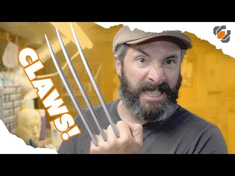 Wolverine's Prop Claws - Cosplay Tutorial Part 2 of 2 - Blades