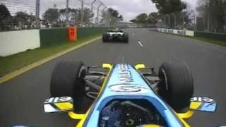 2006 Australian GP- Alonso, Raikkonen vs Button