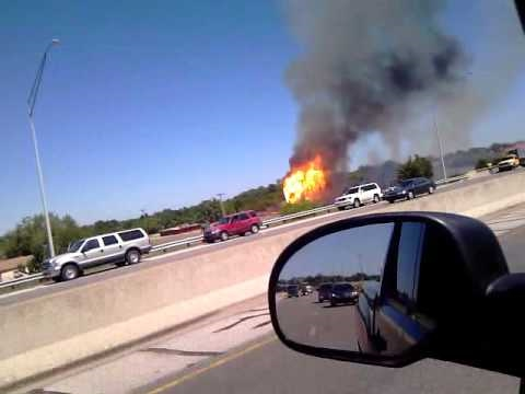 Historical Tulsa Admiral Twin Drive In fire