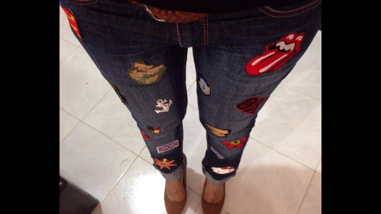 Resultado de imagen para jeans con parches