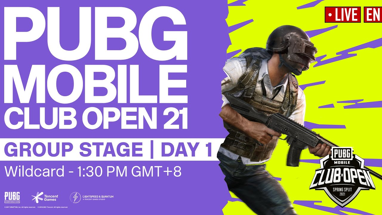 [EN] PMCO Wildcard Group Stage Day 1 | Spring Split | PUBG MOBILE Club Open 2021