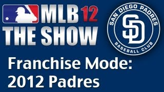 MLB 12:  Franchise Mode - 2012 Padres - Opening Day SD vs. LA