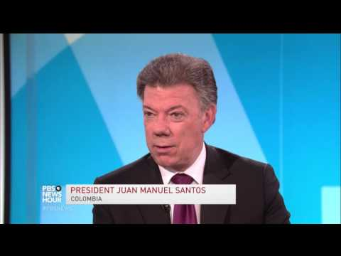 With peace on the horizon, Colombia's president asks Obama for aid
