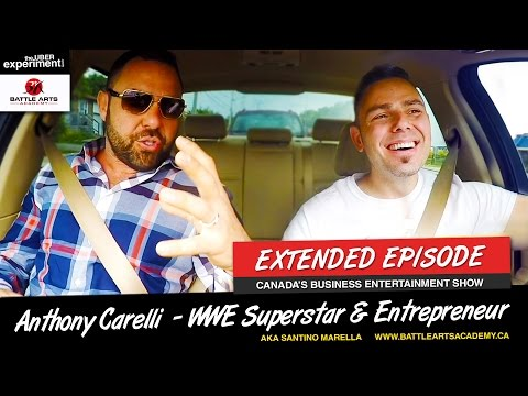 WWE WRESTLER MAY BE A NINJA (Anthony Carelli AKA Superstar Santino Marella on The UBER Experiment)