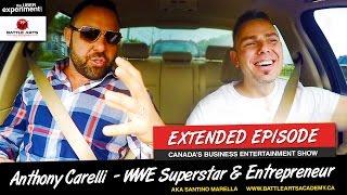WWE WRESTLER MAY BE A NINJA (Anthony Carelli AKA Superstar Santino Marella on The UBER Experiment)