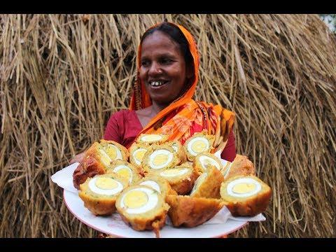 Village Food   Egg potato chop   Ramadan special recipes  Grandmother recipes-69