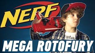 Бластер Nerf Mega Rotofury: обзор и распаковка
