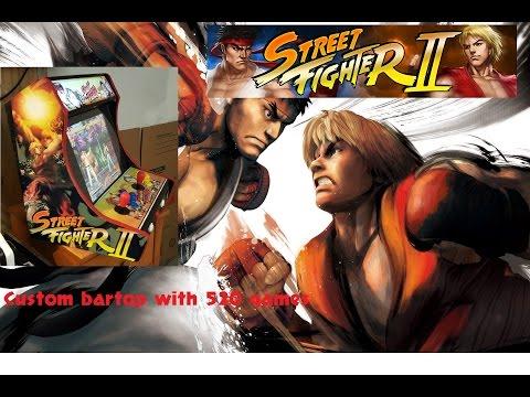 arcade street fighter 2 bar top countertop arcade multicade bartop 520 games