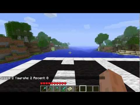 Minecraft[1.7.3] Moveable, Fully-functional Aircraft Carrier - Zeppelin, Plane Mod