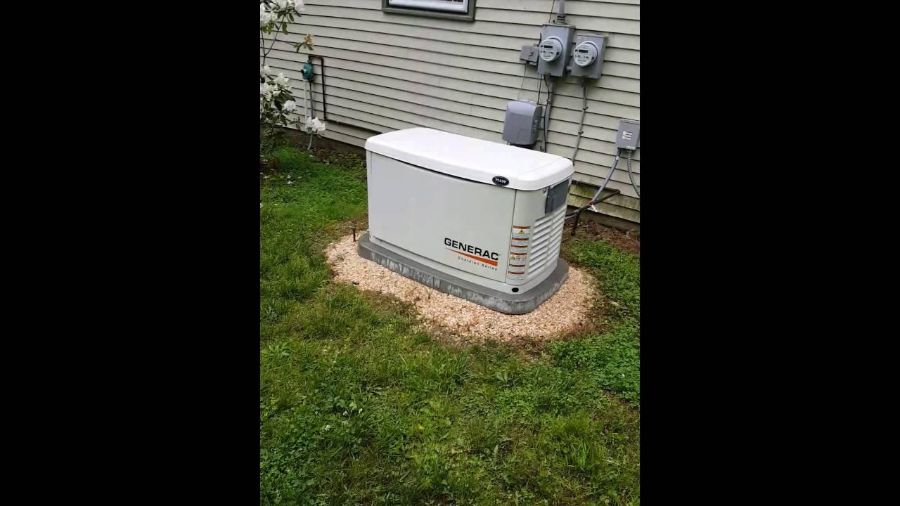 generac 10kw propane generator installation youtube