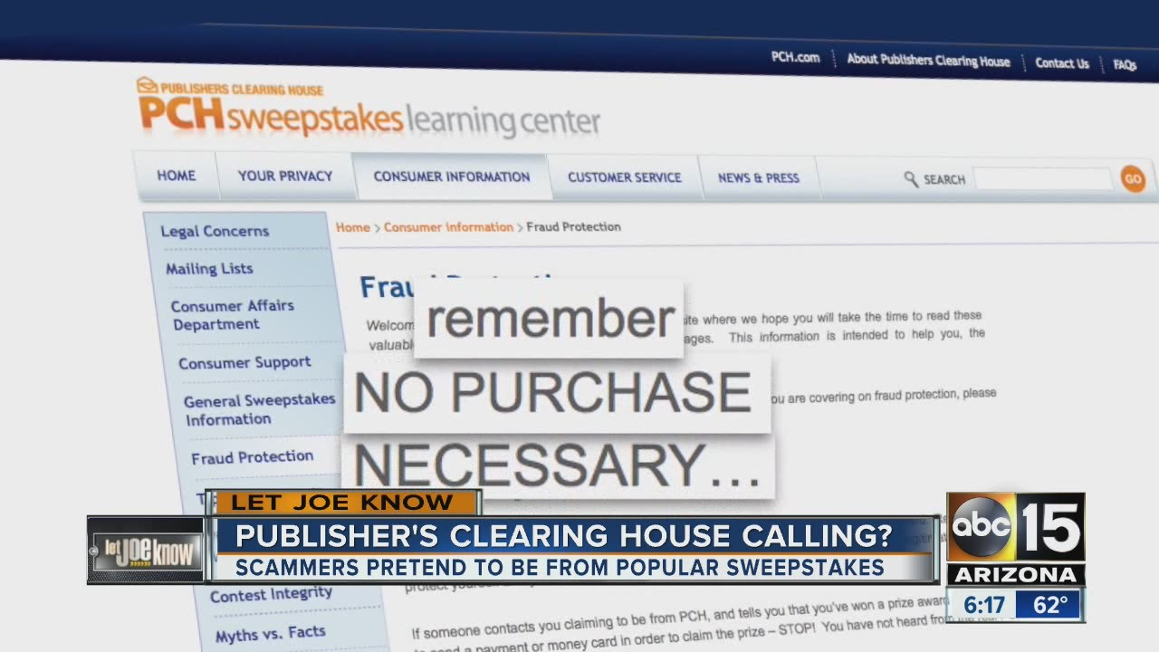 Let Joe Know: Publisher's Clearing House scam