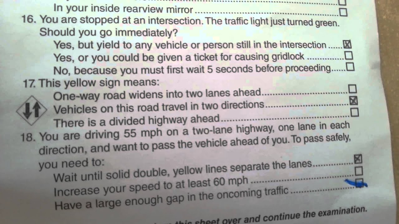 How Many Questions Are On The Permit Test >> July 2013 California Dmv Permit Test 36 Questions Youtube