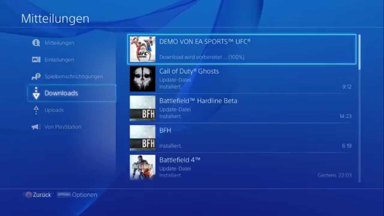 Playstation 4 - Downloads anhalten & fortsetzen (Tutorial) - YouTube