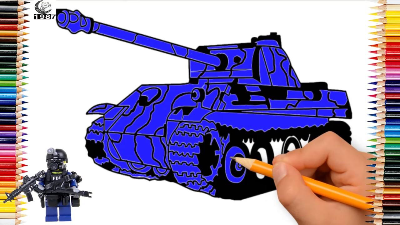 vẽ và tô màu xe tăng siêu nhân