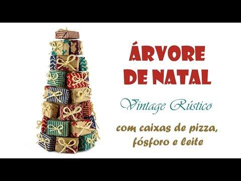🎄 Árvore de Natal de Mesa Vintage Rústico (ARTESANATO, DIY, RECICLAGEM)