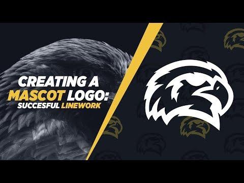 Illustrator Tutorial: Mascot Logo - Sketch/Linework Process