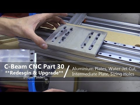 #30 Aluminium CNC Plates #30 / Water-Jet Cut, Intermediate Plate And Sizing Holes