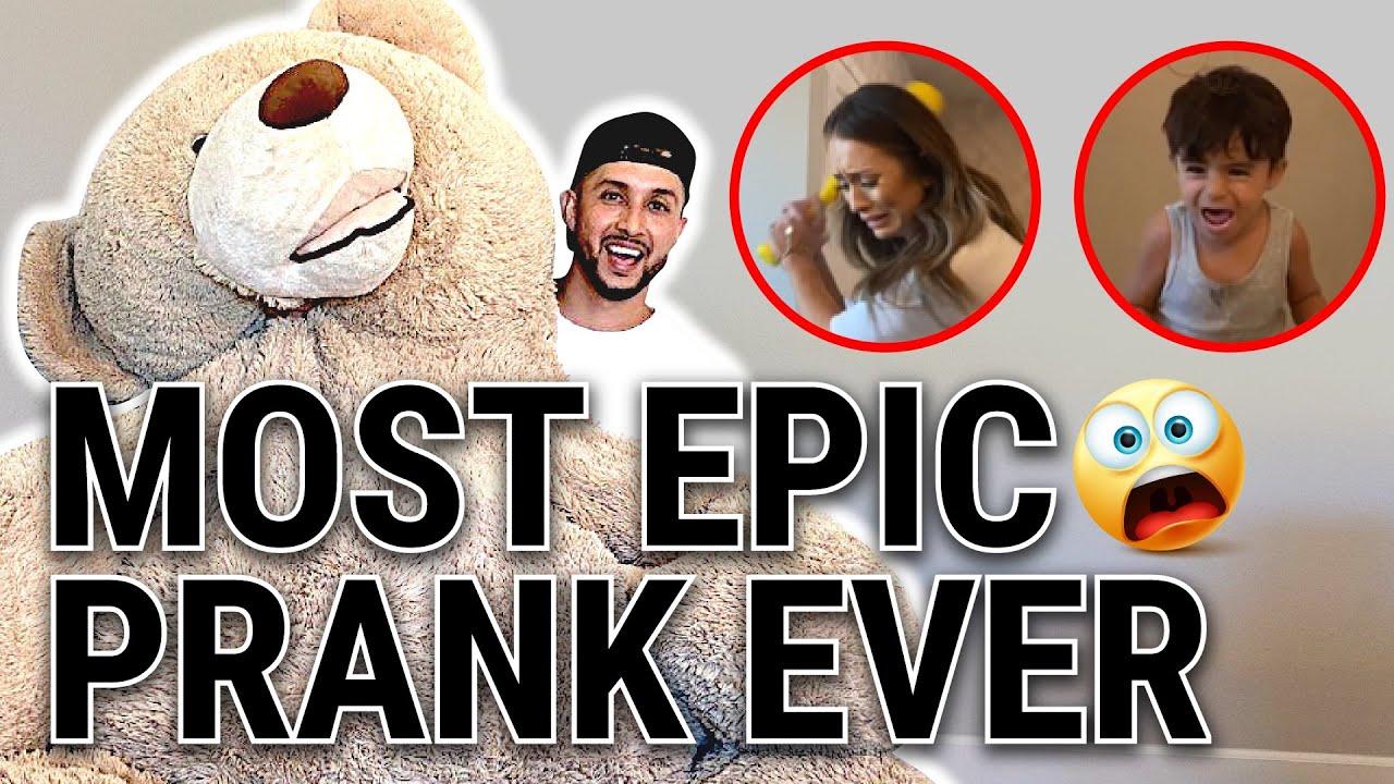 TEDDY BEAR PRANK ON FIANCE!!!