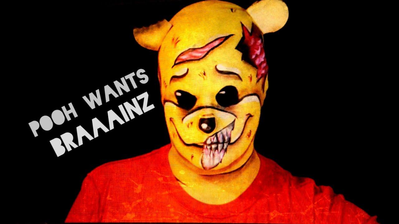 ZOMBIE WINNIE THE POOH?! - Halloween Makeup Tutorial - YouTube