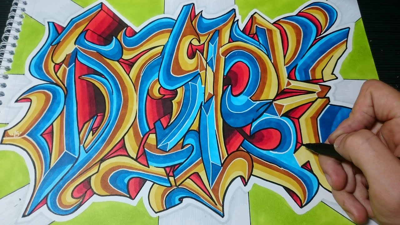Como dibujar letras graffiti DOPE paso a paso  YouTube