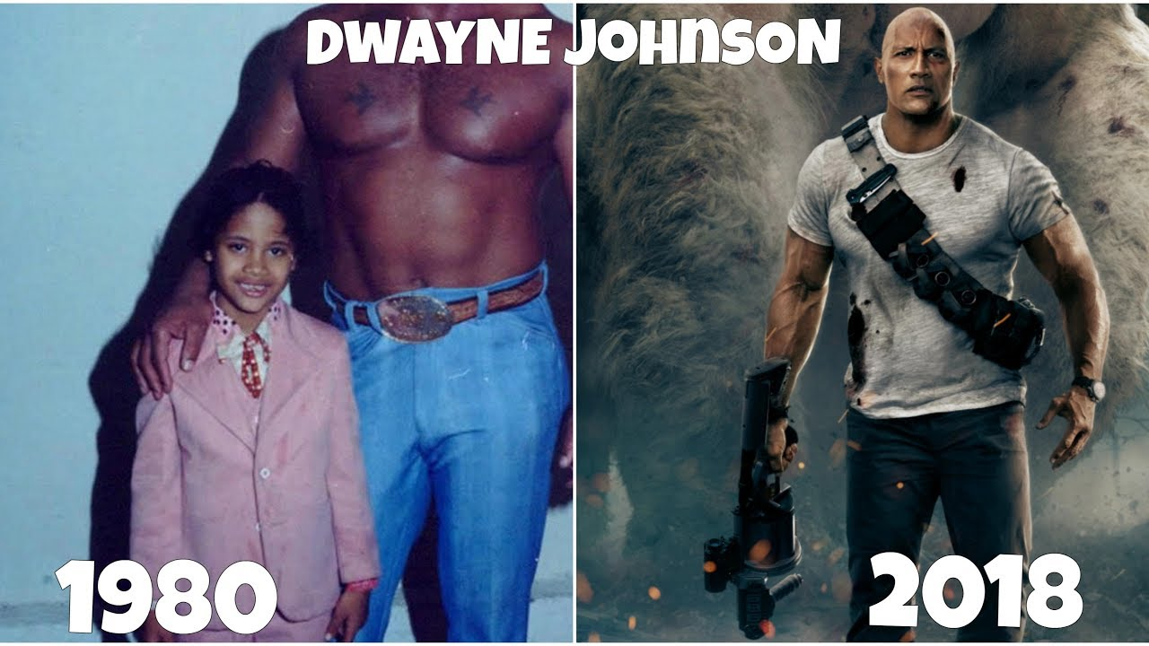 Dwayne The Rock Johnson Transformation From Teen To Adult