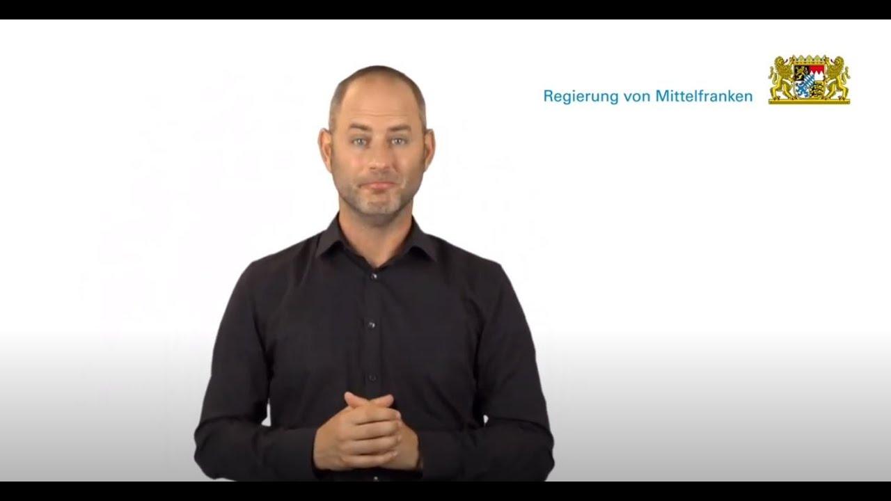 Video in Gebärdensprache: Die Regierung von Mittelfranken stellt sich vor - Bayern