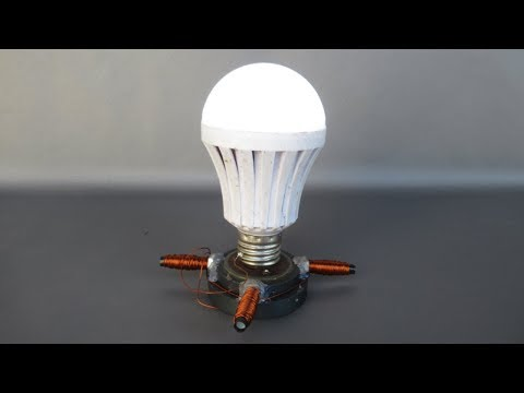 Free energy light bulbs generator with magnets - Experiments projects science 2018