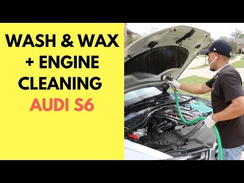 Engine Cleaning, Wash and Wax, and Basic Interior Cleaning on 2014 Audi S6