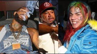 6ix9ine RESP0NDS To The Game Calling Him FAKE BL00D! Wack100 & The Game G00NS GOES OFF!