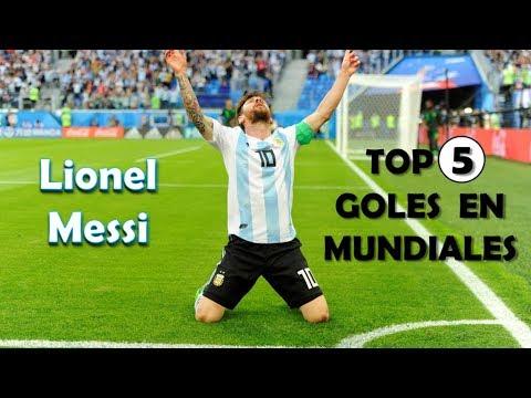 Lionel Messi  - TOP 5 goles de mundiales