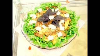 Тёплый салат с грушей и куриной печенкой Warm salad with pear and chicken liver