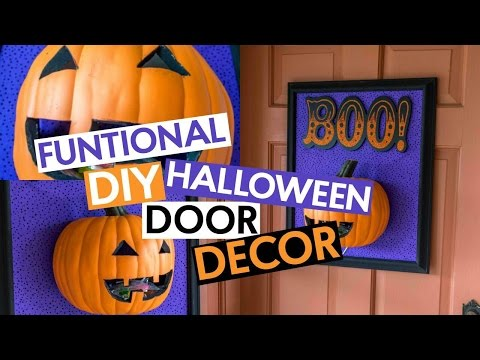 Functional DIY Halloween Door Decor