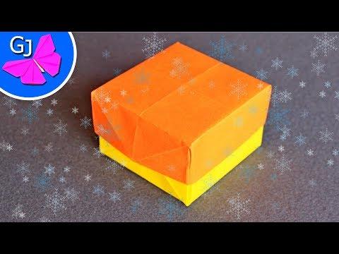 Оригами из бумаги КОРОБОЧКА С КРЫШКОЙ